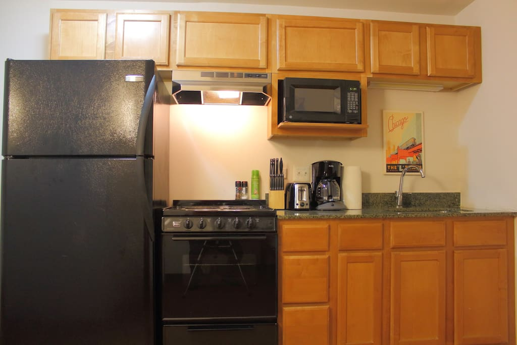 Note that the kitchen light switch is behind the toaster!