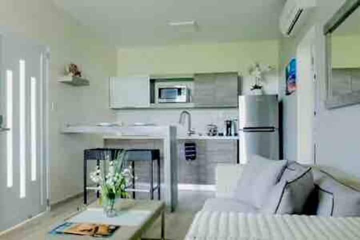 Two bedroom contemporary villa next the beach!