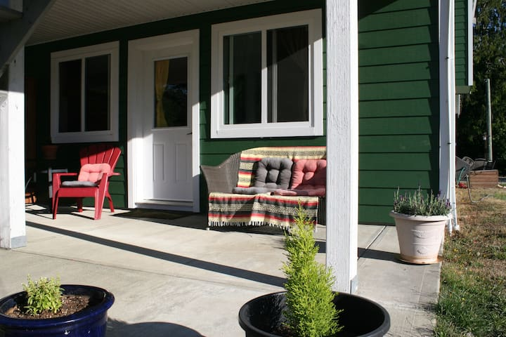 your private entrance and patio