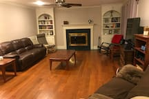 Feel free to be in the Great room.   There are books, DVDs, and games.