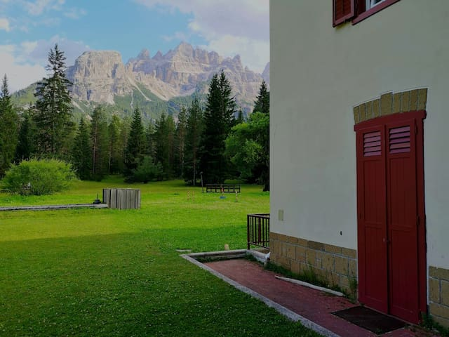 Suggestive place in the Dolomites. Cortina / Dobbiaco
