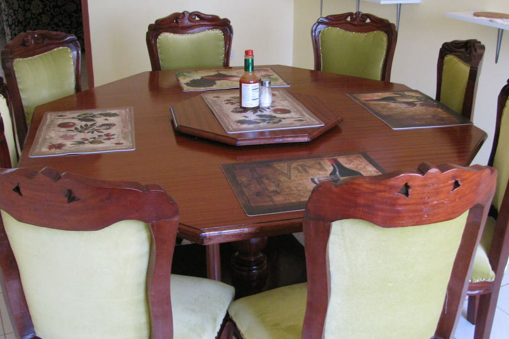 Spacious 8 seater dining table