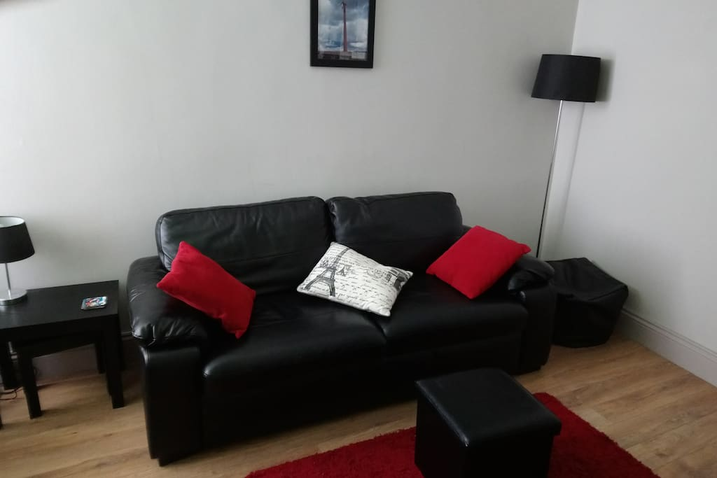 Fold out Double bed settee in Living Room