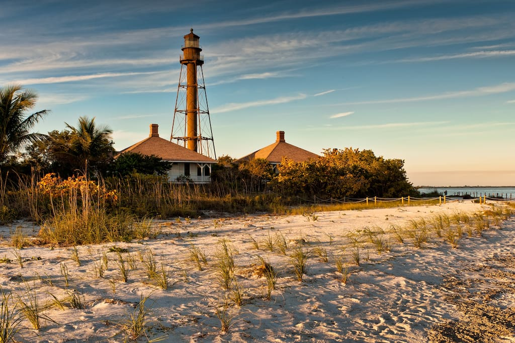 Take a stroll near Sanibel lighthouse.