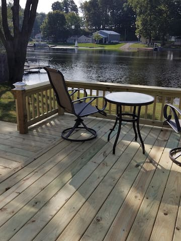 New deck with chairs, table and swing for your comfort. Enjoy!