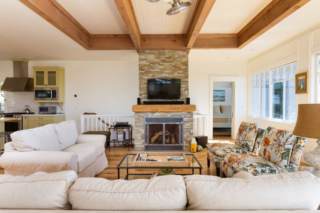 Lots of over-sized and comfortable sofas to relax in while you enjoy a movie night!