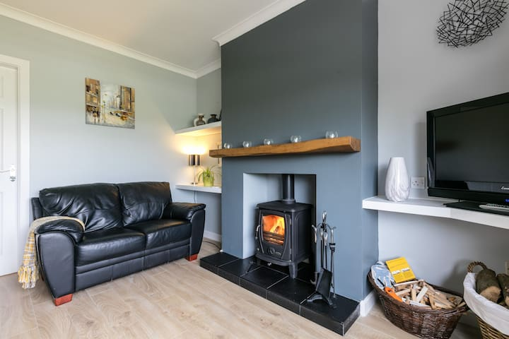 Living Room with woodburner