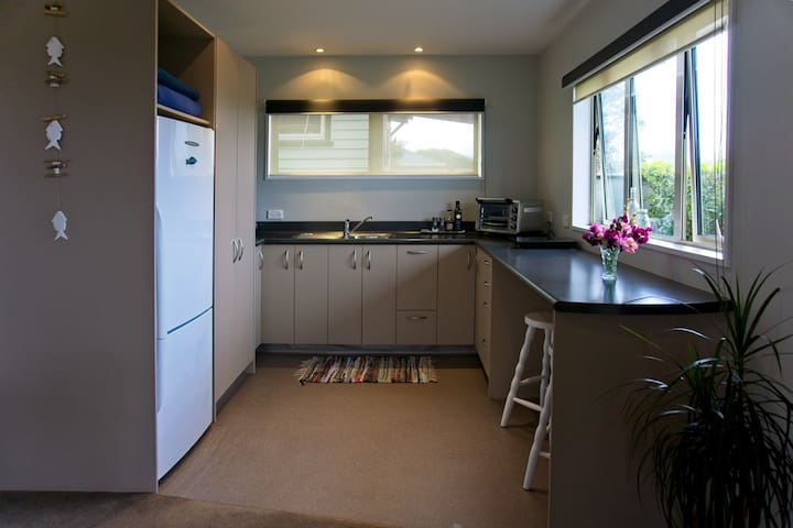 The kitchen is fully self-contained and a complimentary continental breakfast is provided.