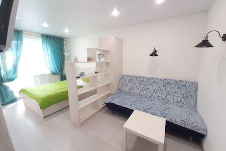 White Apartment in Tula Светлая квартира в центре