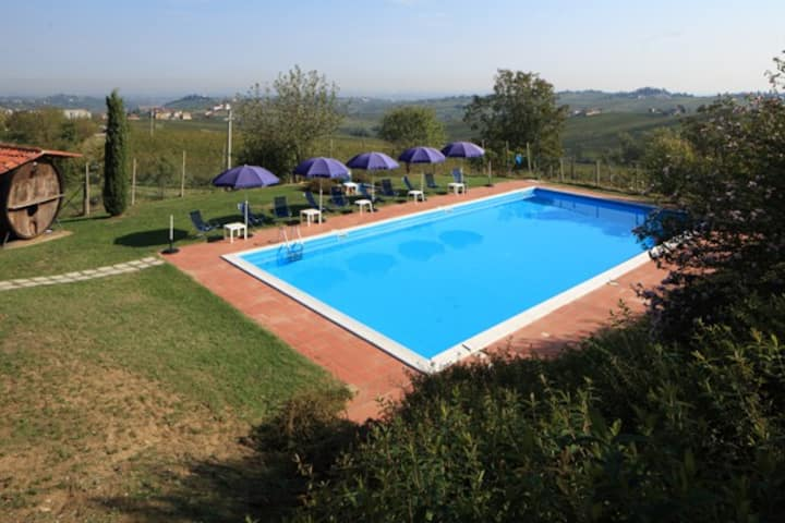 Apartment in farm holiday with swimming pool