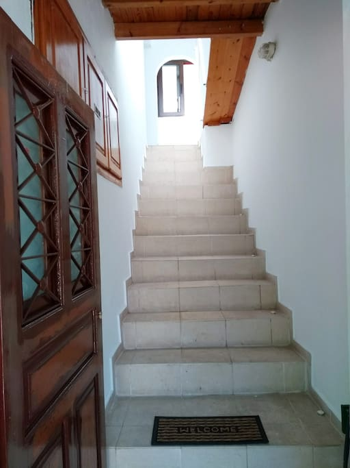 entrance stairway up to living accommodation