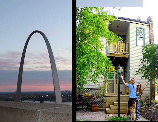 Great Soulard home 1.8 mile to Arch  safe. fun