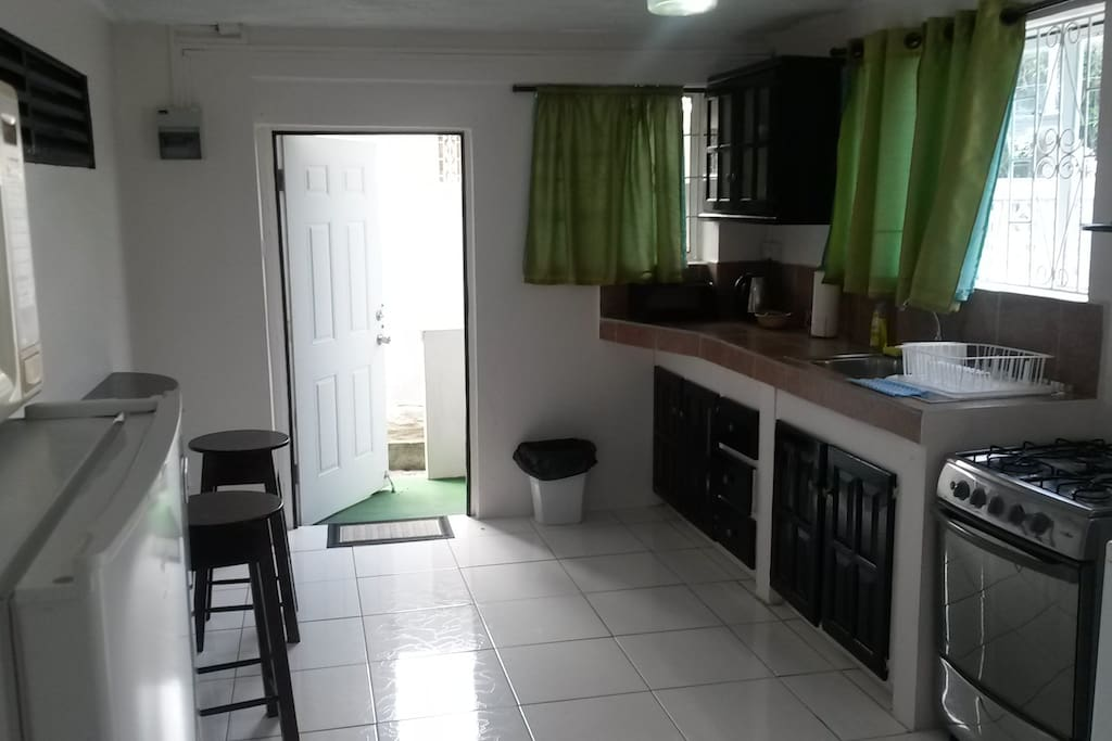 Kitchen/dining exit into porch