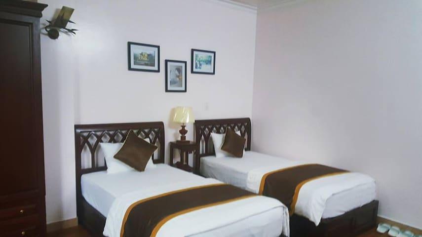 Standard two stars hotel bedroom