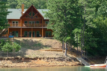 Lakefront Luxury Log Home by Smoky Mtns Ntl Park - Robbinsville - Hus