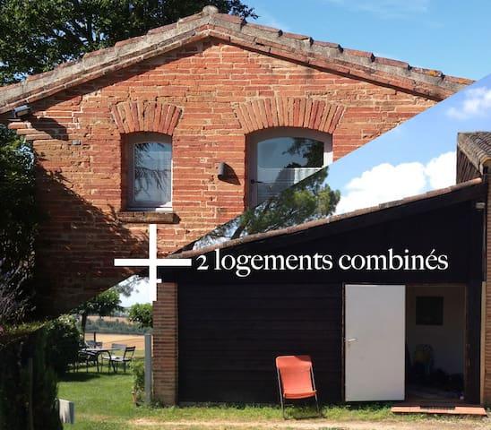 deux maisons indépendantes dans le Lauragais - Baziège - House