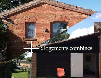deux maisons indépendantes dans le Lauragais - Baziège