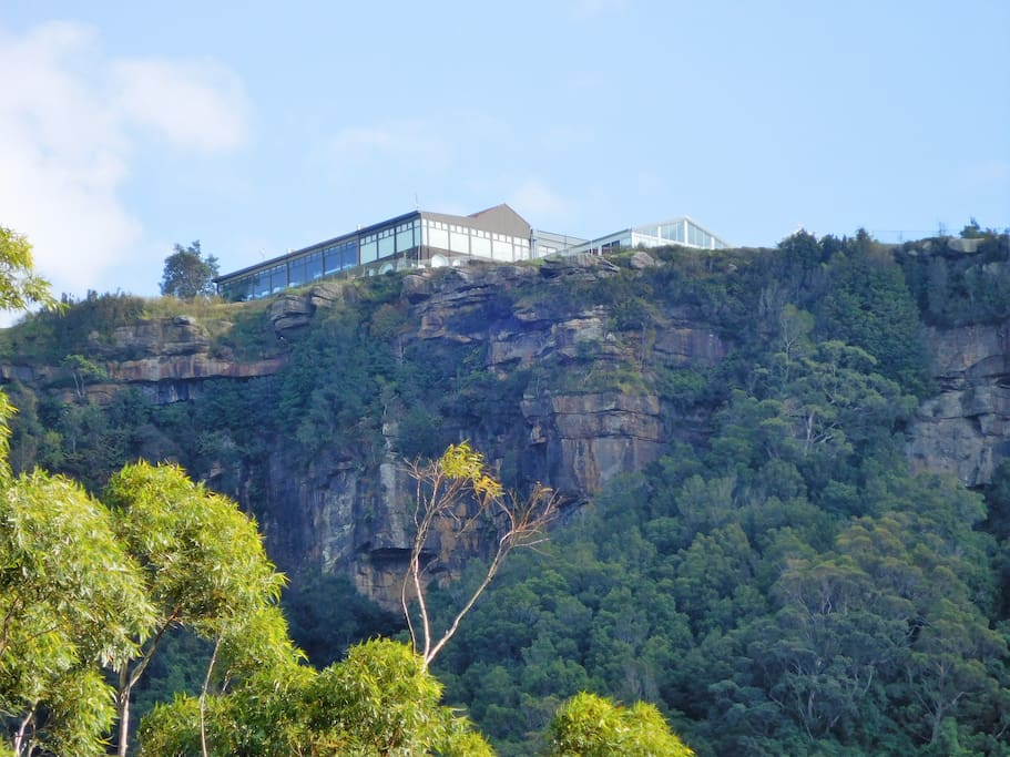 Panorama House wedding venue, located 3 km approx from the property. View from the property.