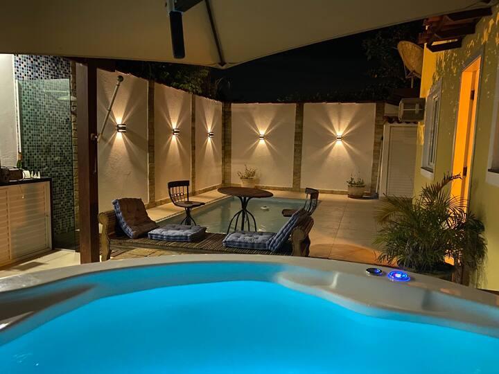 Casa de luxo Marina Buzios jacuzzi piscina barco!