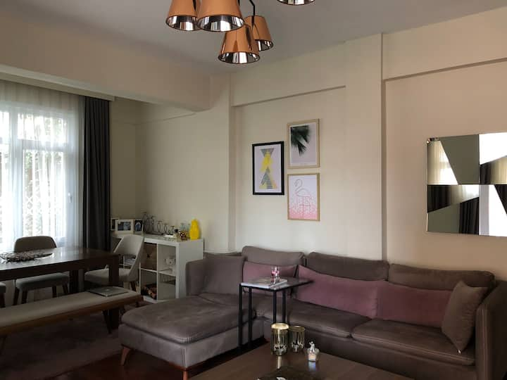 Centrally located in Ulus with a private garden