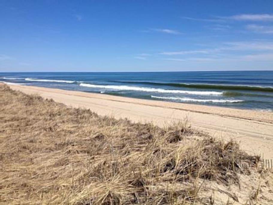 Our beach (3-4 minute walk)