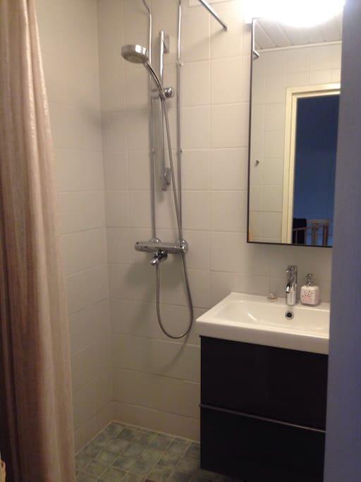 Shower upstairs