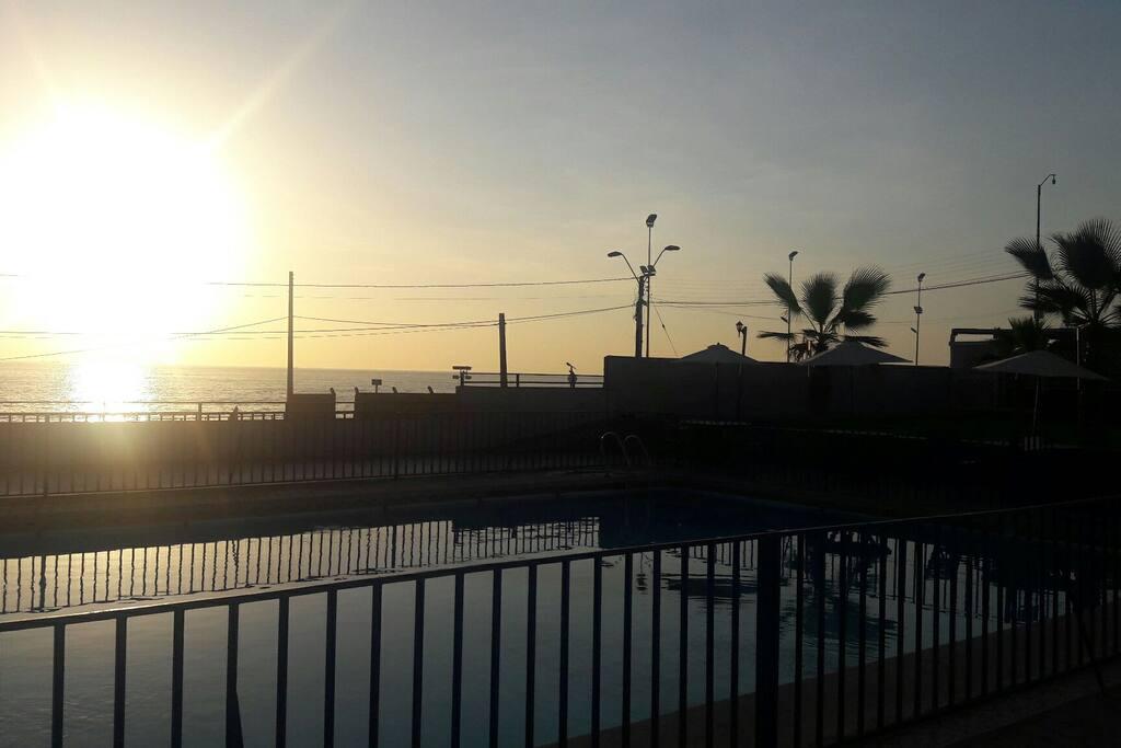 piscina del departamento.