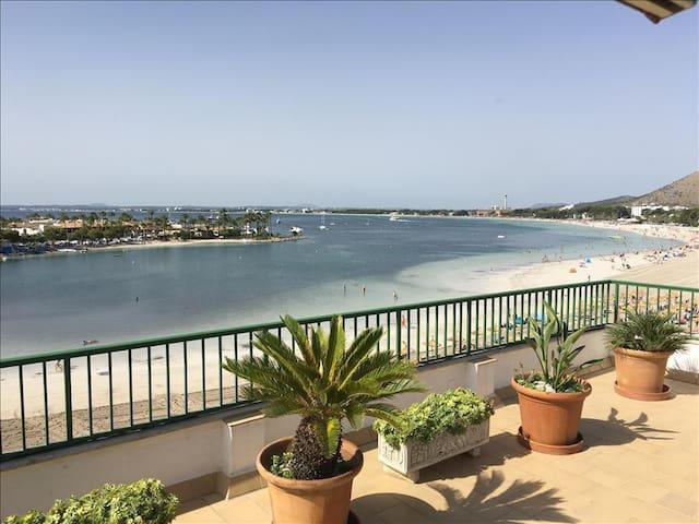XARA - First Line to the Beach, Terrace, A/A, Wifi - 阿爾庫迪亞