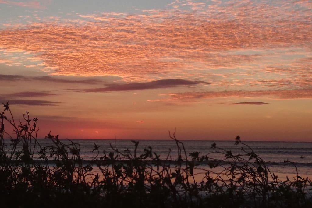 sunset north guiones (8 min de l'appartement)