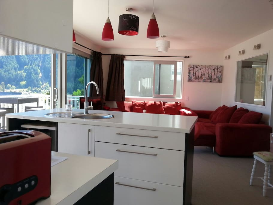 Open plan living kitchen with all cooking facility
