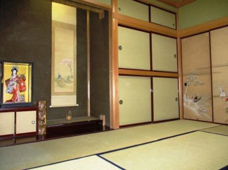 Tatami room2:Japanese traditional room in the Japanese doll.
