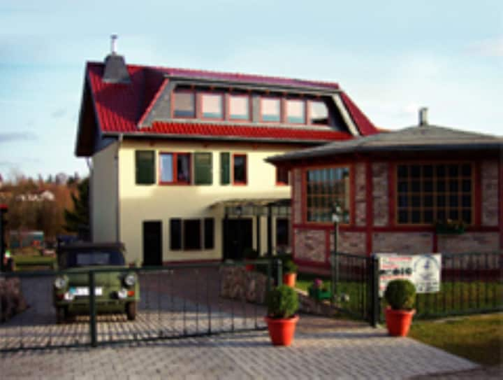 Cozy Vacation Apartment Priepert near the River with Wi-Fi, Balcony, Shared Terrace & Garden; Parking Available