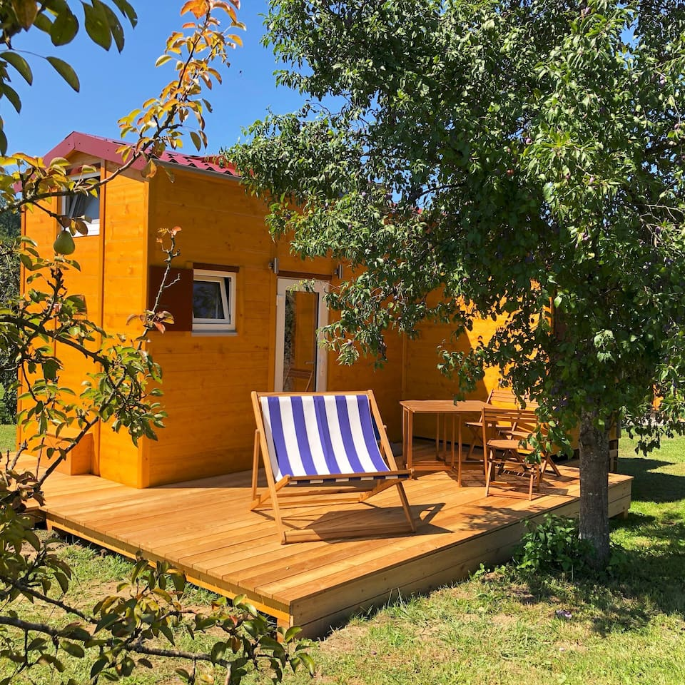 Haus Außenansicht, Tiny House II, Biolandhof Bodensee