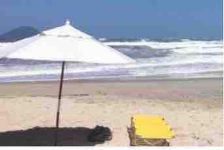 De frente para praia- Barra do Una