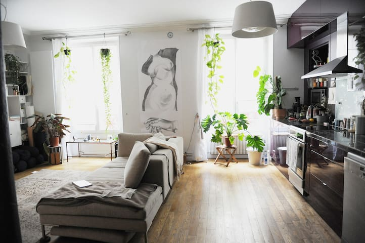 Oasis Luxury loft in heart of Paris 2 bedrooms