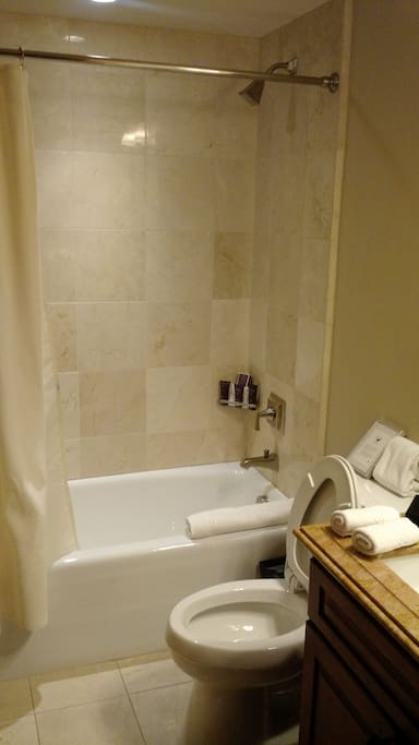 Full Bathroom located within each guest room.