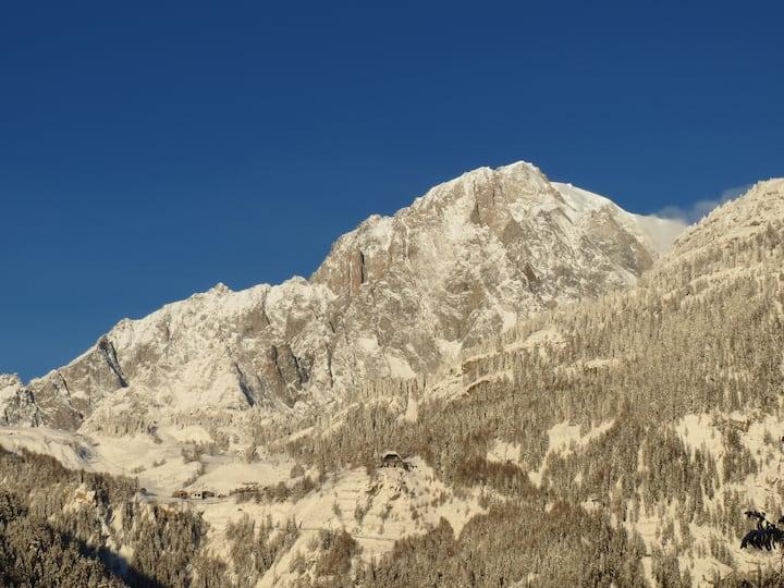 Italie, Vallée d'Aoste, Courmayeur appart 2 pièces