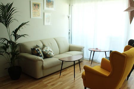 Room with private bathroom in modern appartment - Wohnung