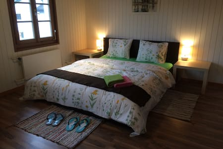 Ze Farmhouse Apt I, 2 BR + bathroom, sleeping 5 - Adligenswil - Condominium