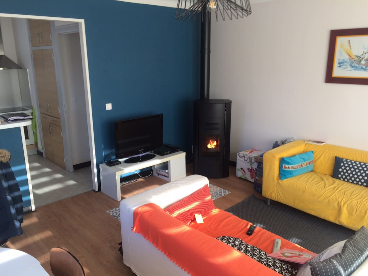 Salon moderne et chaleureux