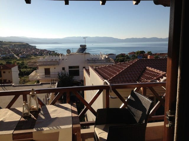 3 BD, Maisonette, Sea view in Nea Roda Athos - Nea Roda - House