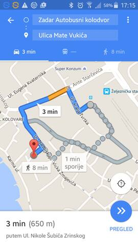 A way from Bus terminal to our place