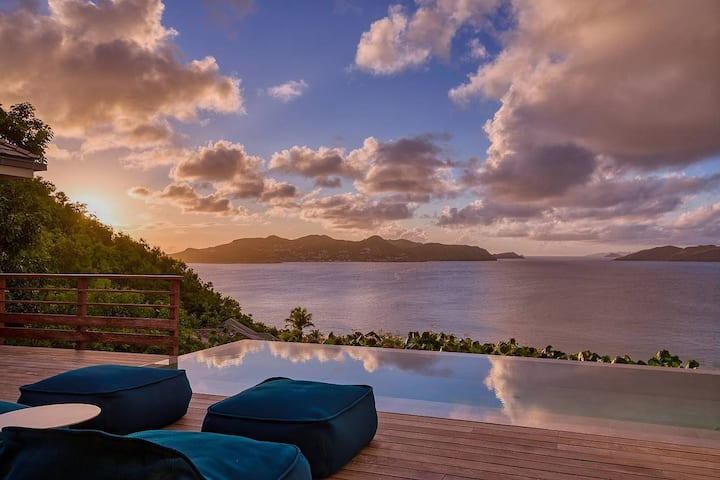 Your Villa with a breath taking view in St Barth
