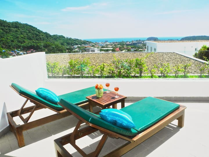 Sea Scenery 1 BR Apartment close to Kata Beach