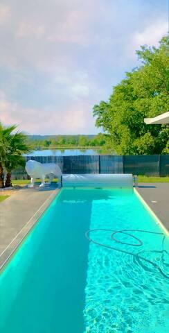 Villa contempo, vu grand large , couché de soleil
