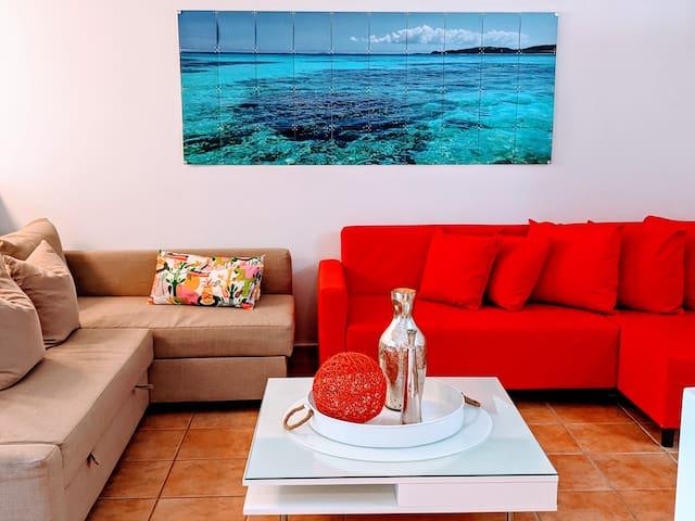 Beach Front Modern Studio next to  Resort