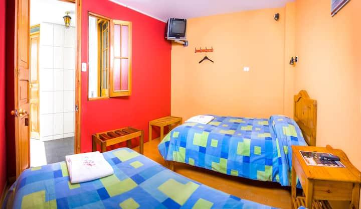 Nice and cosy Twin room Shared Toilet @LeFoyerAQP