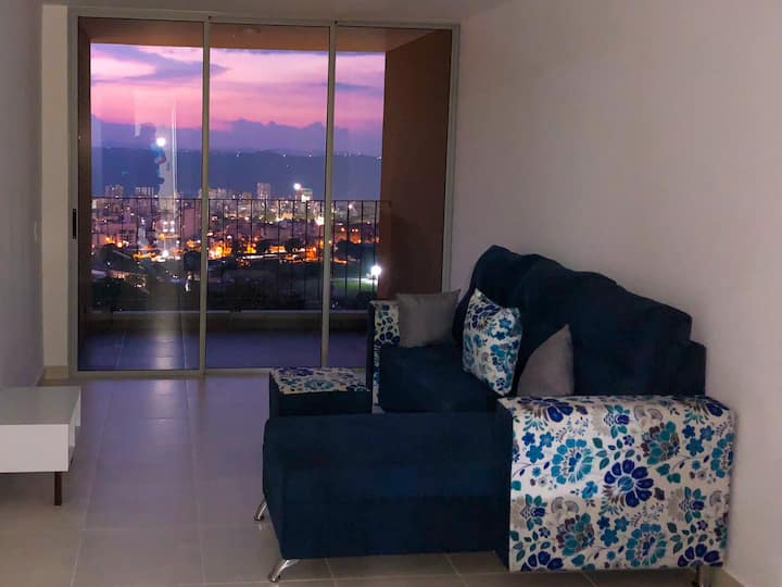 brand new aparment with a nice city view