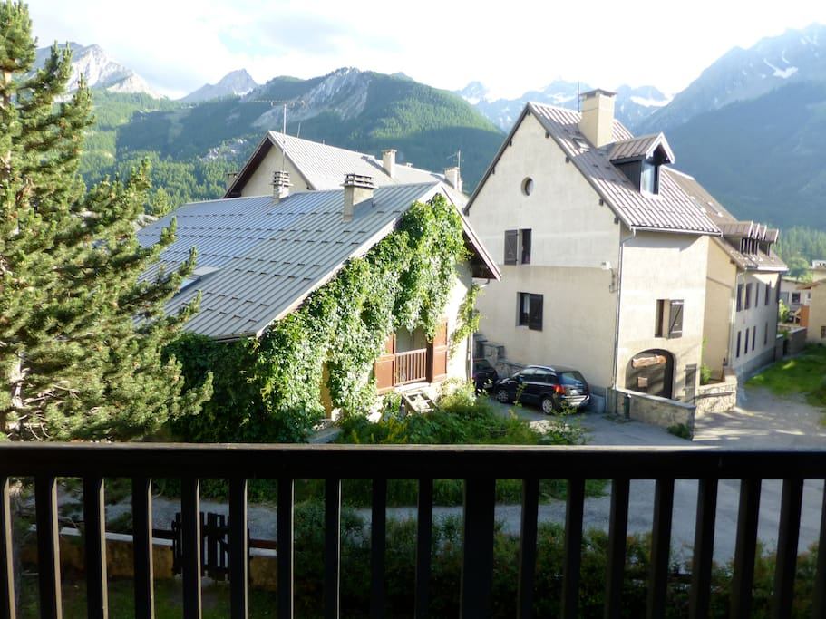 Vue du balcon en été