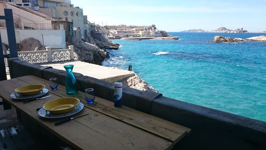 Cottage Feet in the water and magnificent View - Marselha - Apartamento